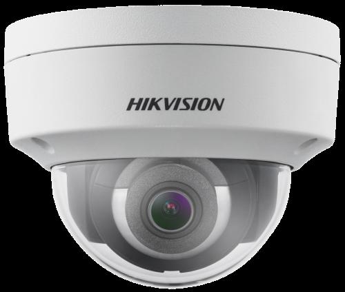 DS-2CD2123G0-IS - 2MP Уличная купольная антивандальная IP-камера с ИК-подсветкой  и поддержкой Аудио/Тревоги.