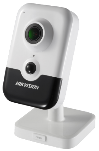 DS-2CD2443G0-IW - 4MP кубическая Wi-Fi камера с ИК-подсветкой и пассивным датчиком обнаружения движения.