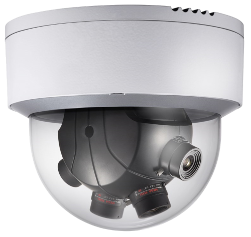 DS-2CD6986F(H) - 8MP Уличная высокочувствительная панорамная (PanoVu*) купольная IP-камера с поддержкой Аудио/Тревоги и подогревом.