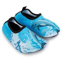 """Аквашузы детские """"Дельфины"""" голубой размеры 22/23-24/25, 30/31"""