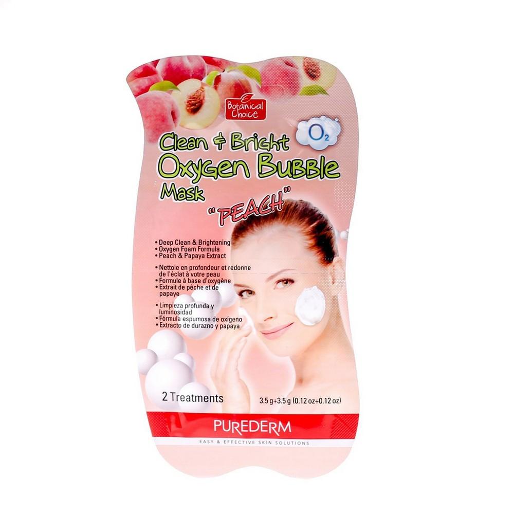 Маска для лица Purederm O2 Clean & Bright Oxygen Bubble Mask Peach