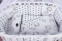 Набор детского постельного белья из 17 предметов(для кроватки-манежа),расцветки уточняем, фото 7
