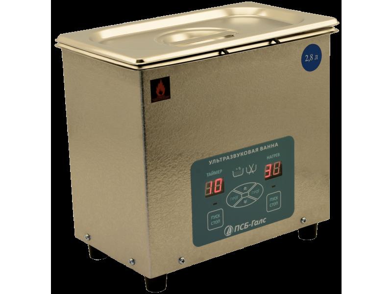 Ультразвуковая ванна ПСБ-2860-05. Объём - 2,8 л.