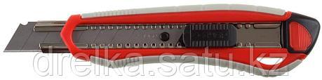 """Нож ЗУБР """"МАСТЕР"""" с сегментированным лезвием, двухкомпонентный корпус, автофиксатор, сталь У8А, 18мм, фото 2"""