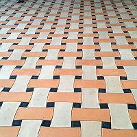 Тротуарная плитка Madrid белый/оранжевый/черный