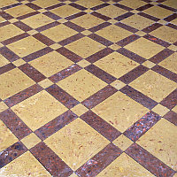 Тротуарная плитка Каракуль желтый/коричневый