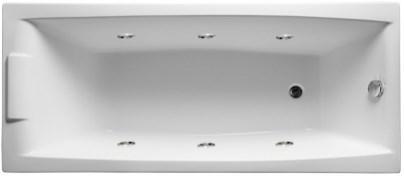 Акриловая ванна Аелита 180х80 см с гидромассажем. Джакузи.(Общий массаж)