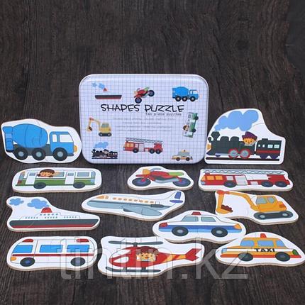 Деревянные пазлы в железной банке - Автотранспорт, фото 2