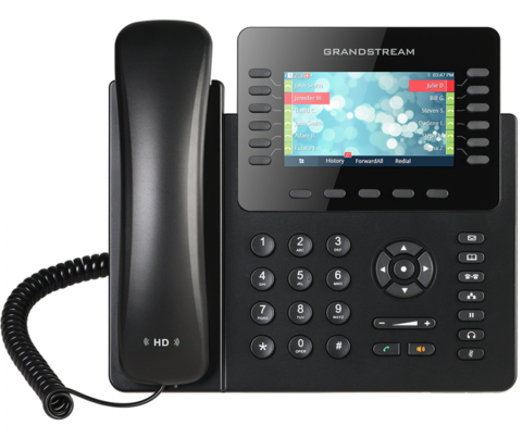 Grandstream GXP2170 - IP телефон. 6 SIP аккаунтов, 12 линий, цветной LCD, PoE