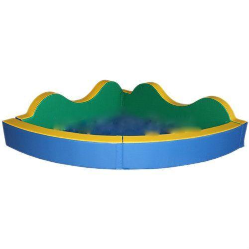 Сухой бассейн угловой с фигурными стенками «Волна» разборный