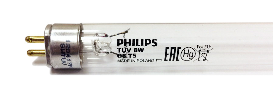 Лампа бактерицидная Philips TUV 8W G8T5
