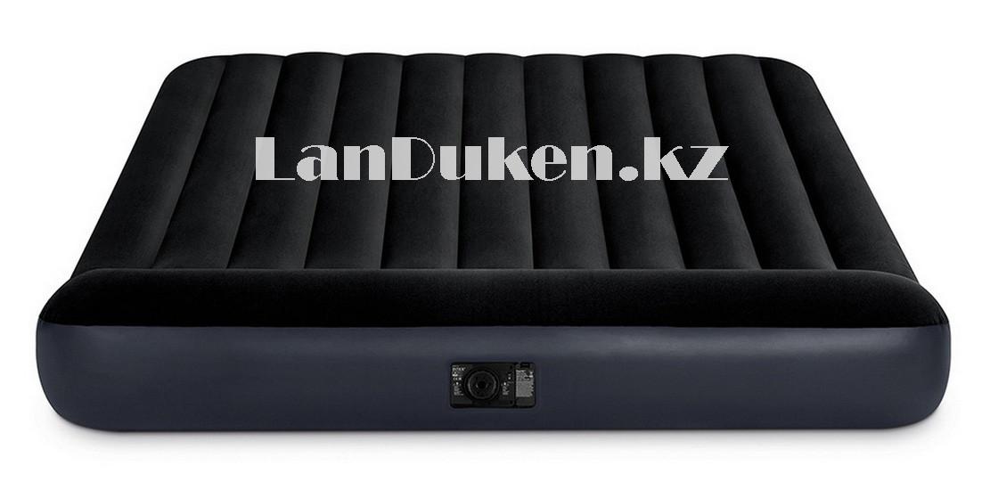 Надувной матрас двуспальный с подголовником и с сумкой Intex 64143 (203x152x25cm) - фото 5