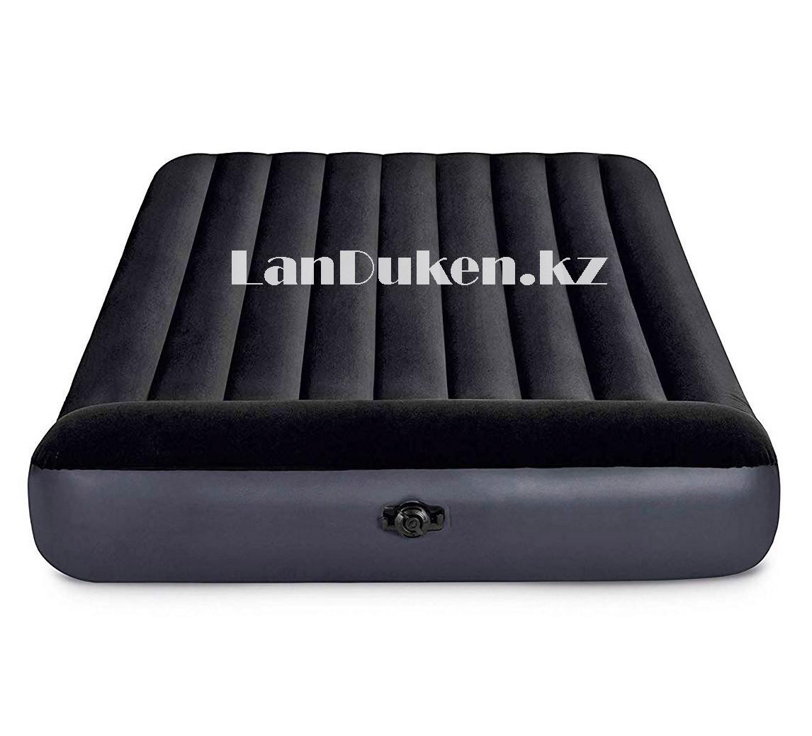 Надувной матрас двуспальный с подголовником и с сумкой Intex 64143 (203x152x25cm) - фото 6