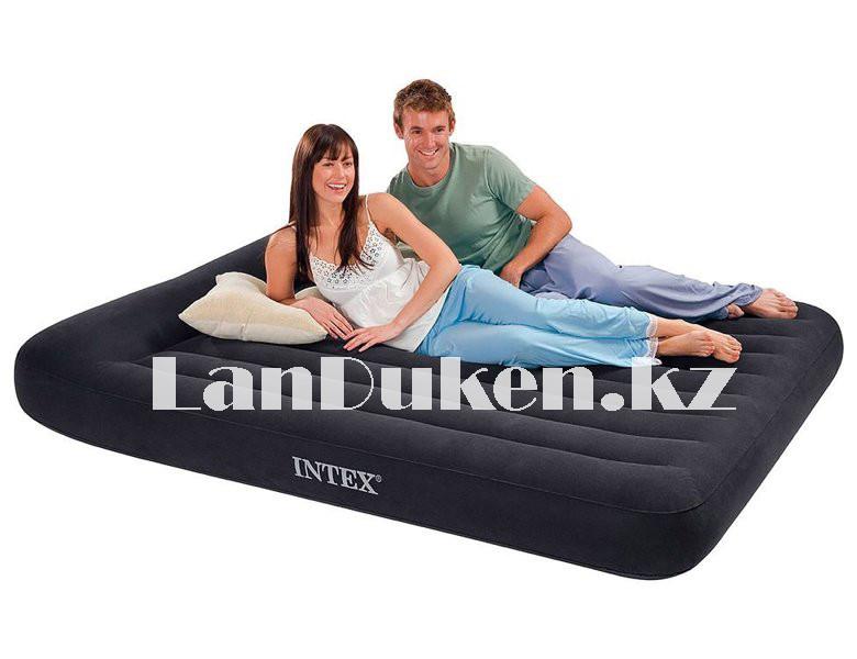 Надувной матрас двуспальный с подголовником и с сумкой Intex 64143 (203x152x25cm) - фото 4