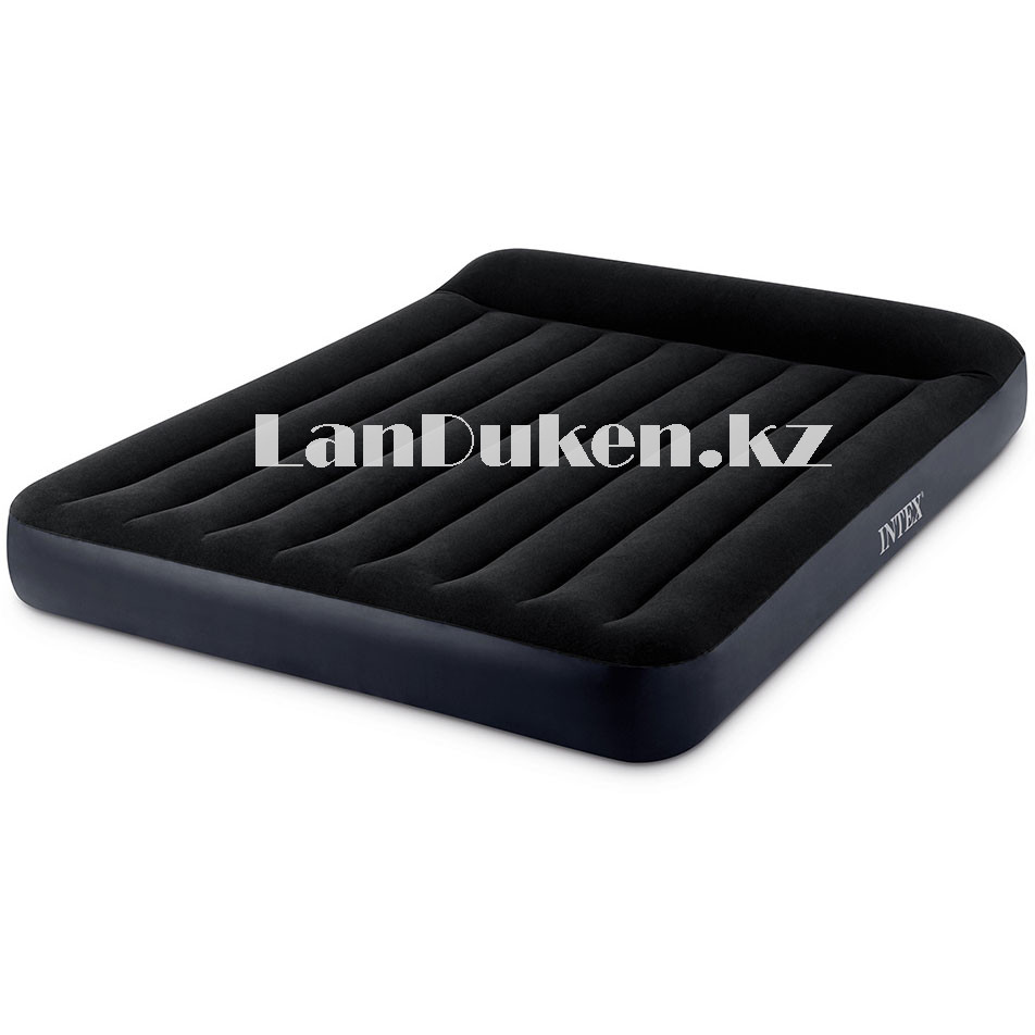 Надувной матрас двуспальный с подголовником и с сумкой Intex 64143 (203x152x25cm) - фото 9