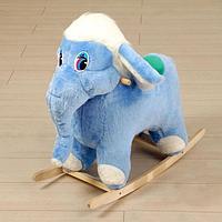 """Качалка мягкая """"Слон"""", голубой"""