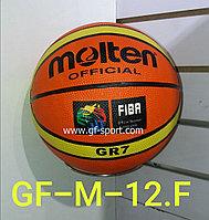 Мяч баскетбольный Molten резиновый М-12F