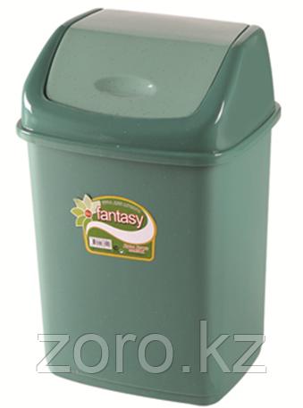 Мусорное ведро 5 литров Фантазия зеленое