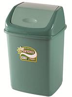 Мусорное ведро 5 литров Фантазия зеленое, фото 1