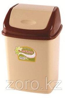 Мусорное ведро 18 литров Фантазия светло-коричневое