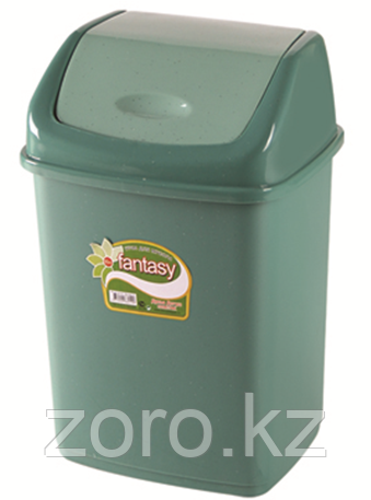 Мусорное ведро 18 литров Фантазия зеленое