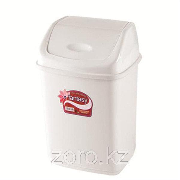 Мусорное ведро 35 литров Фантазия белое