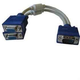 Кабель раздвоитель VGA с одного на два VGA 0.3 метра