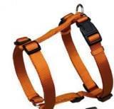"""Trixie Оранжевая 40-65 см, 15 мм Шлейка для собак из прочного нейлона, """"Premium H-harness"""", регулируемая"""