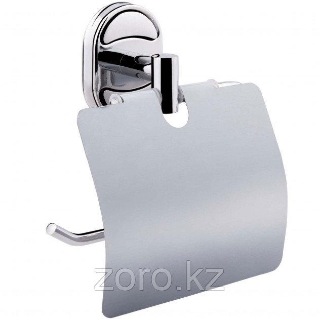 Настенный держатель металлический для туалетной бумаги с крышкой