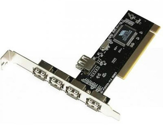 Плата PCI USB 2.0 4 порта, фото 2