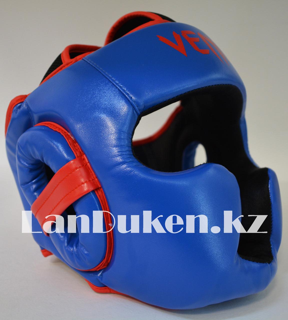 Боксерский шлем Venum L/XL (синий)