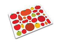 Доска разделочная стеклянная 40x30cm Mixed Tomatoes 90017 (Joseph Joseph, Англия)