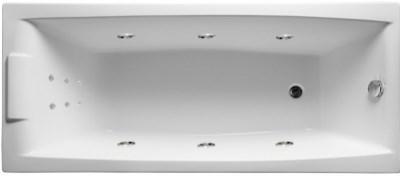 Акриловая ванна Аелита 180х80 см с гидромассажем. Джакузи.(Общий массаж + спина)