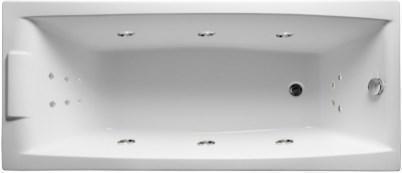 Акриловая ванна Аелита 180х80 см с гидромассажем. Джакузи.(Общий массаж + спина + ноги), фото 2