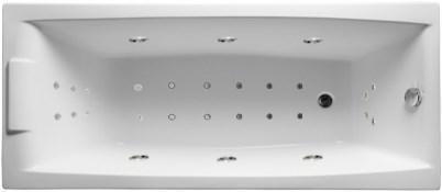 Акриловая ванна Аелита 180х80 см с гидромассажем. Джакузи.(Общий массаж + спина + ноги + дно)