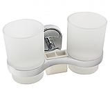 Настенный стакан (двойной) для щеток и зубных паст, фото 5