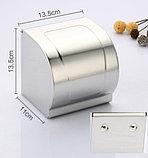 Держатель (диспенсер) для туалетной бумаги закрытого типа, фото 5