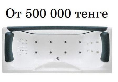 Прозрачная акриловая ванна Дольче Вита SPA - HD 180х80 см. Джакузи, фото 2
