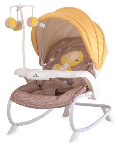 Стульчик-качалка LORELLI DREAM TIME Бежево - Желтый / Beige & Yellow My Baby 1809