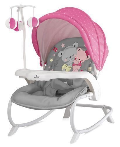 Стульчик-качалка LORELLI DREAM TIME Розовый-серый / Pink&Gray ZAZA 1817
