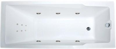 Акриловая ванна Aragona (Raguza) 190х90 см с гидромассажем. Джакузи.(Общий массаж + спина)