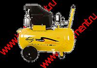 Компрессор пневматический, 1,5 кВт, 206 л/мин, 50 л | DENZEL