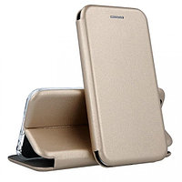 Кожаный книжка-чехол Open case для Samsung Galaxy J330 (золотистый)