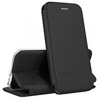 Кожаный книжка-чехол Open case для Huawei P30 (черный)