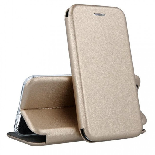 Кожаный книжка-чехол Open case для Xiaomi NOTE 5 PRO (золотистый)