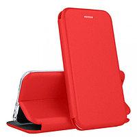 Кожаный книжка-чехол Open case для Xiaomi Redmi NOTE 3 (красный)