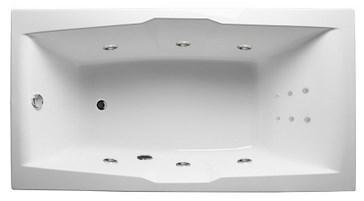 Акриловая ванна Korsika 190х100 см с гидромассажем. Джакузи.(Общий массаж + спина)