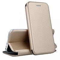 Кожаный книжка-чехол Open case для LG X-POWER (золотистый)