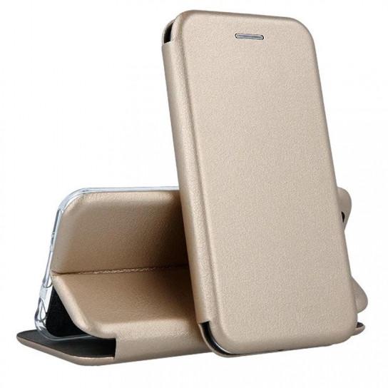 Кожаный книжка-чехол Open case для Meizu M3 NOTE (золотистый)
