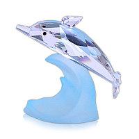 Фигурка хрустальная дельфин на волне 0642 77
